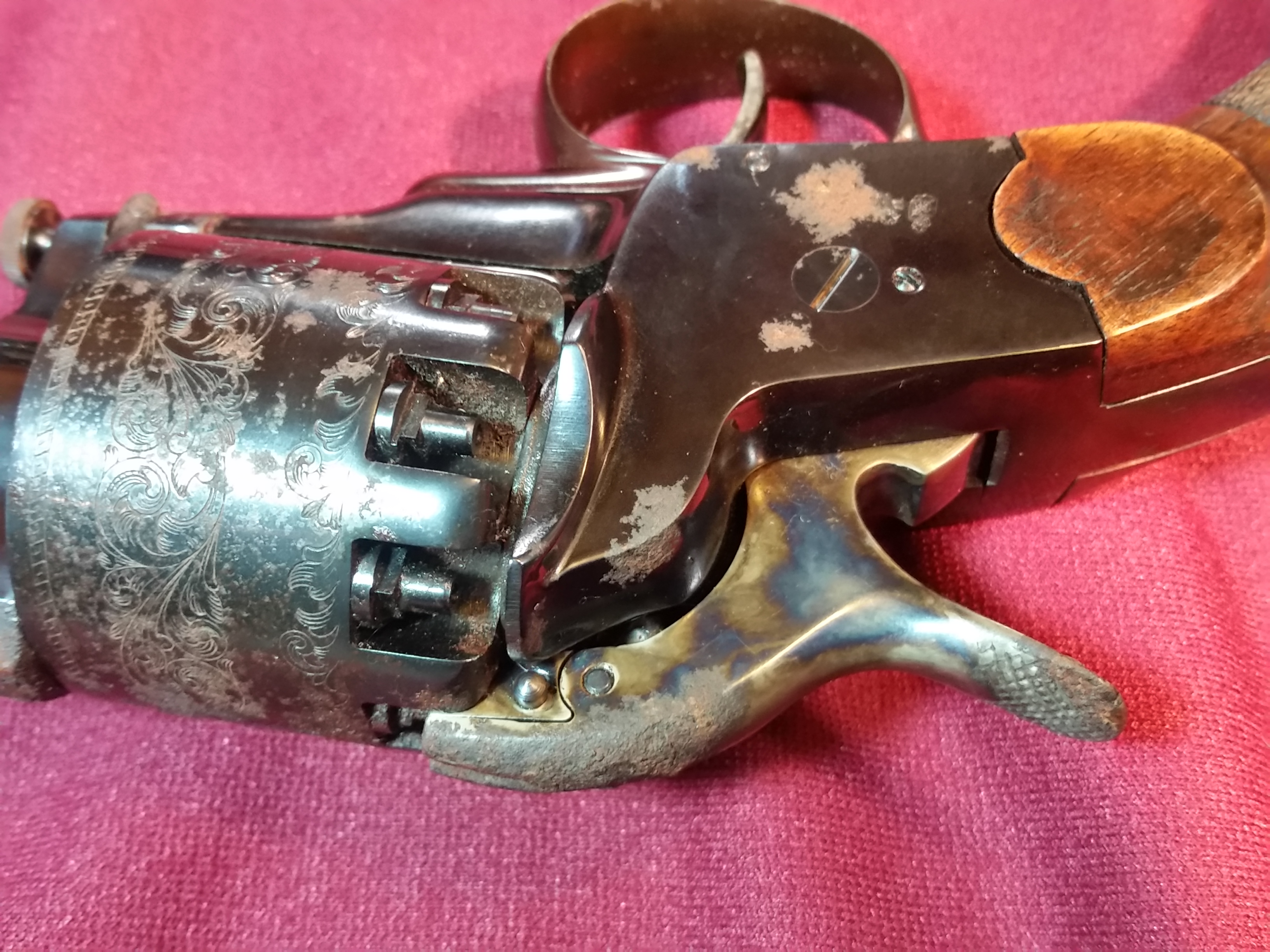 Lemat Revolver Reproduction rusty at Deason's Antique Weapons